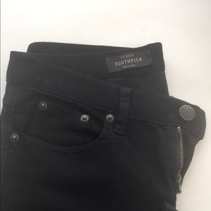 Brand new J Crew black toothpick crop jeans.